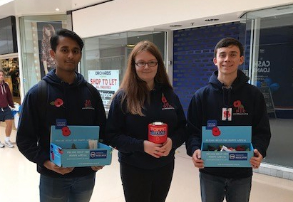 Dartford Youth Council poppy selling